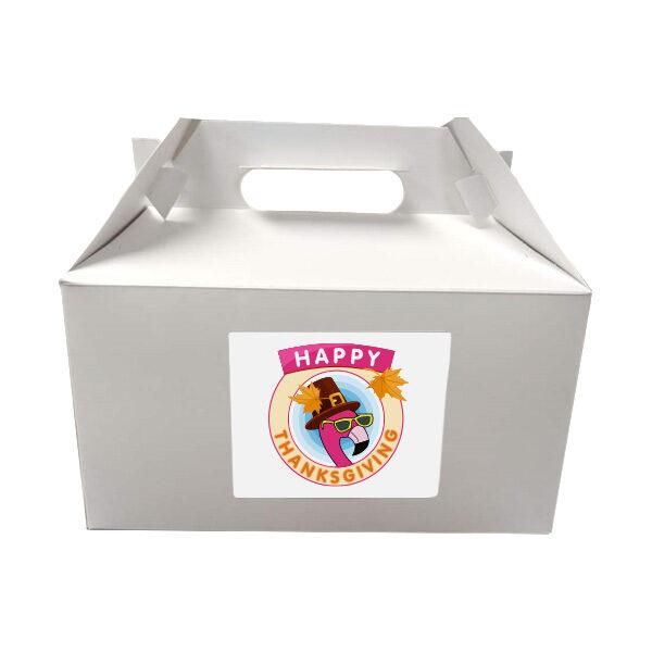 Happy Thanksgiving Pound Cake in a White Box