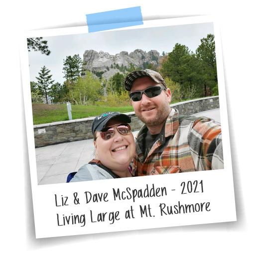 Liz and Dave at Mt. Rushmore